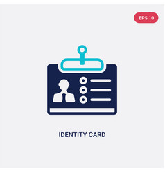 two color identity card icon from business vector image