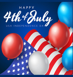 us independence day banner poster or greeting vector image