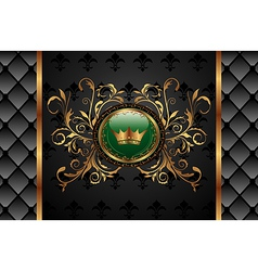 vintage background with crown - vector image
