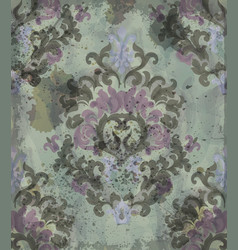 vintage watercolor classic ornament pattern vector image