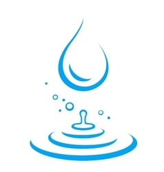water droplet and splash vector image