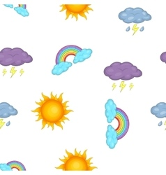 Weather forecast pattern cartoon style vector image