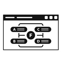 Web page management icon simple style vector