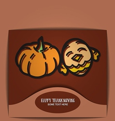 With thanksgiving and pumpkin and bird vector