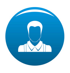 worker avatar icon blue vector image