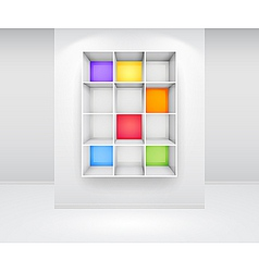 3d isolated empty colorfu vector image vector image