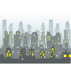 abstract of big city vector image vector image