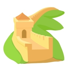 Chinese wall icon cartoon style vector image