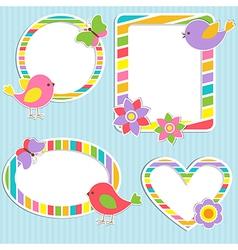 Cute frames vector image