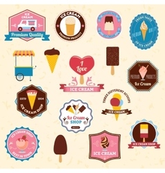 Ice cream emblems set vector image