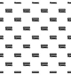 London double decker bus pattern simple style vector