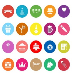 Party time flat icons on white background vector image vector image