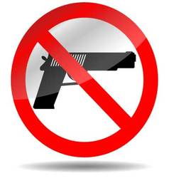 Ban of weapons pistol vector image vector image