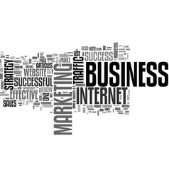 be a success in your business text word cloud vector image vector image