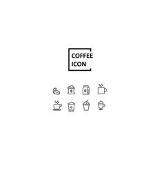 simple coffee icon vector image vector image