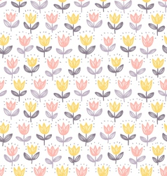 Tulips pattern vector image vector image