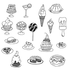 zentangl doodle Cake vector image