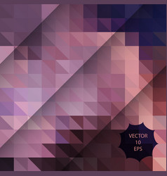 abstract background with pink colorful triangles vector image