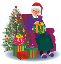 Christmas gift for the beloved granny vector image vector image