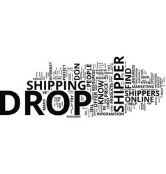 five tested ways to find the perfect drop shipper vector image