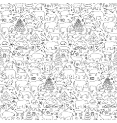 Forest Animals Seamless Pattern vector image