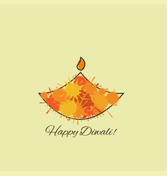 happy diwali vector image