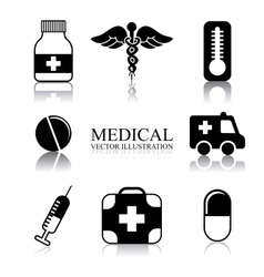 medical design vector image