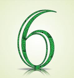 Number 6 design vector image