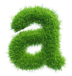 small grass letter a on white background vector image vector image