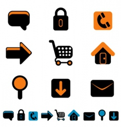 web site icon vector image vector image