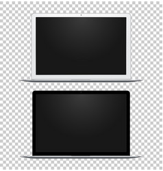 black and white notebook with empty screens vector image