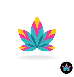 Colorful overlay five leaves zen or spa logo vector image vector image