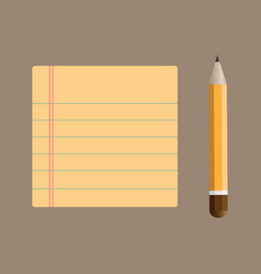 notepad with bookmarks and pencil vector image