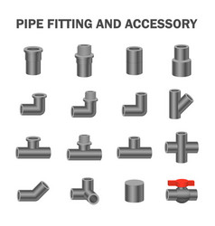 pipe fitting vector image vector image