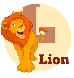 ABC Cartoon Lion3 vector image