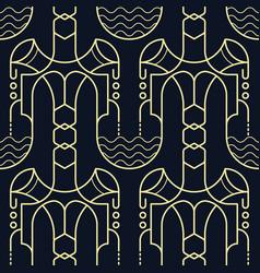 Abstract art deco seamless modern tiles pattern vector