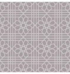 Arabic geometric seamless pattern vector