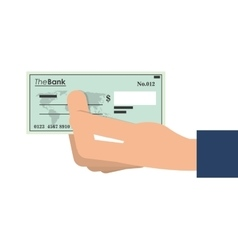 Bank check icon vector