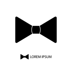 Black bowtie as logo vector