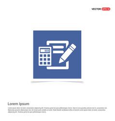 Calculation icon - blue photo frame vector