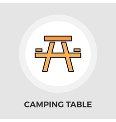 Camping table Flat Icon vector
