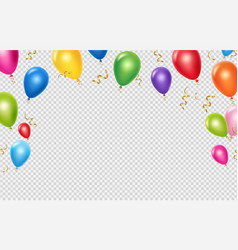 celebration background template realistic vector image