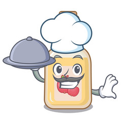 Chef with food apple cider in character shape vector