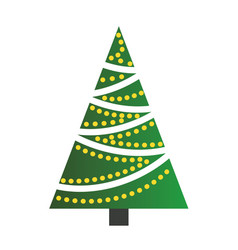 christmas tree on white background vector image
