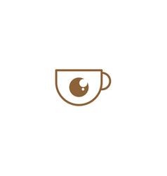 Coffee camera graphic design template simple vector
