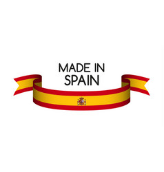 Colored ribbon with the spanish colors vector