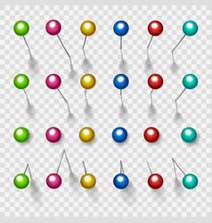 colorful thumbtacks or pushpins vector image