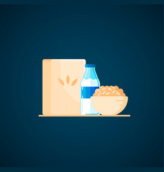 delicious healthy breakfast milk porridge vector image