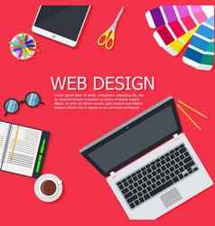 design web interface website computer development vector image