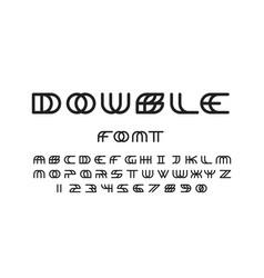 Double font alphabet vector